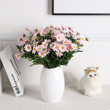 High Quality Daisy Artificial Flower For Wedding Party Office Home Room Table Decor Fashion Silk Flower Small Floral