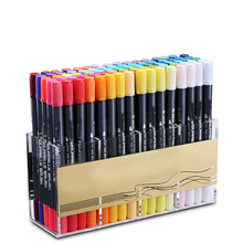 dual tip high quality non-toxic basic-water black barrels marker and water color brush pen