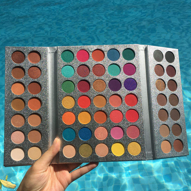 Beauty Glazed 63 Color Eyeshadow Palette Shimmer Eyeshadow Palette Matte Color Eyeshadow