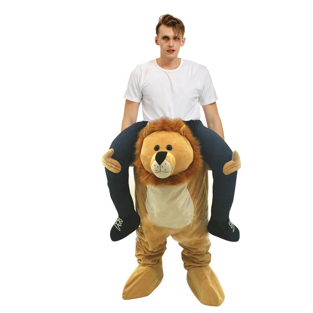 Halloween Funny People Carry Me Ride On Animal Lion / Bear/ Panda /Easter Bunny Rabbit Shoulders Dress up Mascot Costume