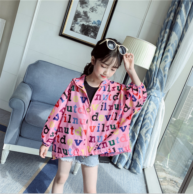 Wholesale baby kids print outwear coat girls outwear for kids clothes