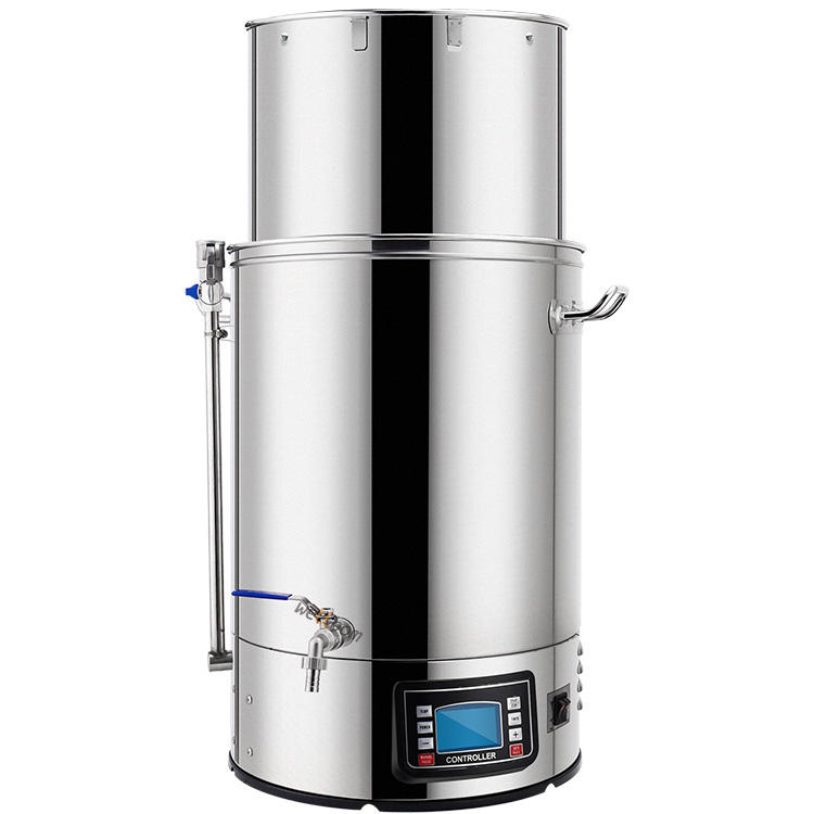 Beer Brewer Full Home Brewing System Mash Tun 40L/60L Home Fermentation of Beer 304 Stainless Steel Brewing Equipment
