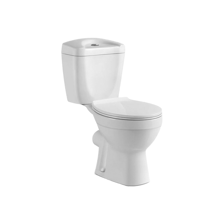 dual flush button Cheap Two Piece Ceramic toilet commode combination toilet shower made in China eau de toilette