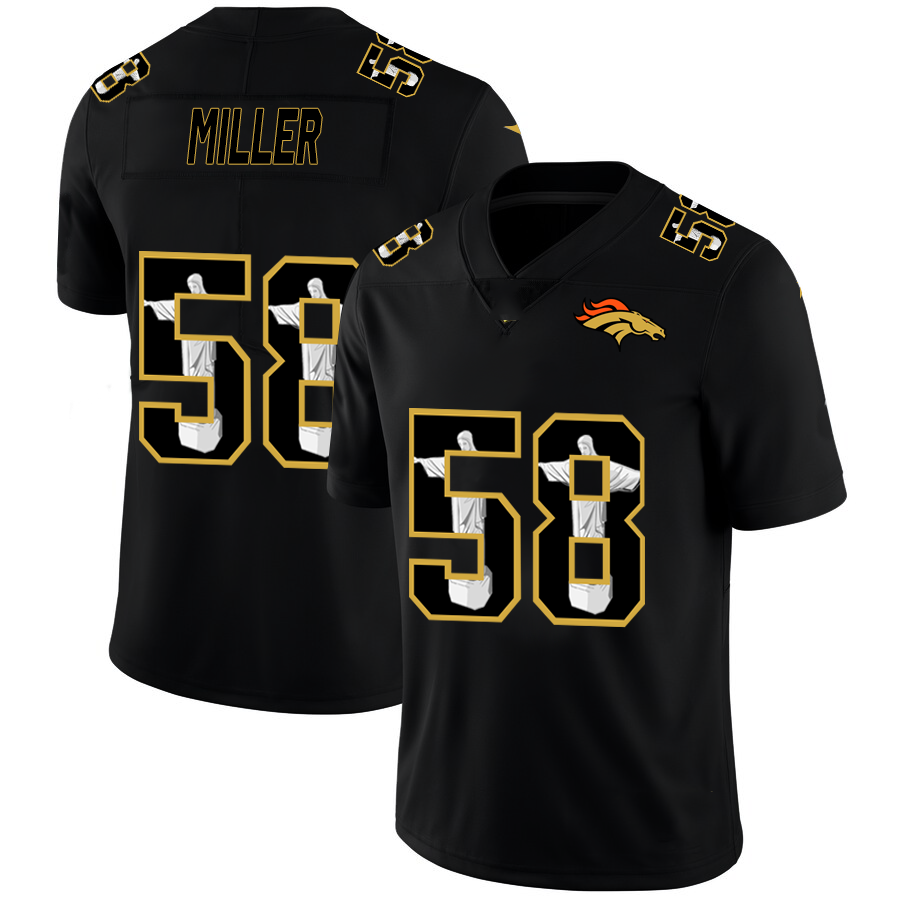 Custom Mannen 2021 Nieuwe <span class=keywords><strong>Lindsay</strong></span> 30 # Miller 58 # Flacco 5 # Black American Football Jersey