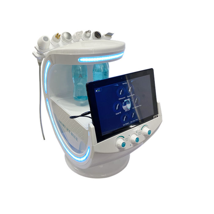 New product 2020 blue ice peel hydro dermabrasion skin rejuvenation / face deep cleaning beauty machine with skin analyzer