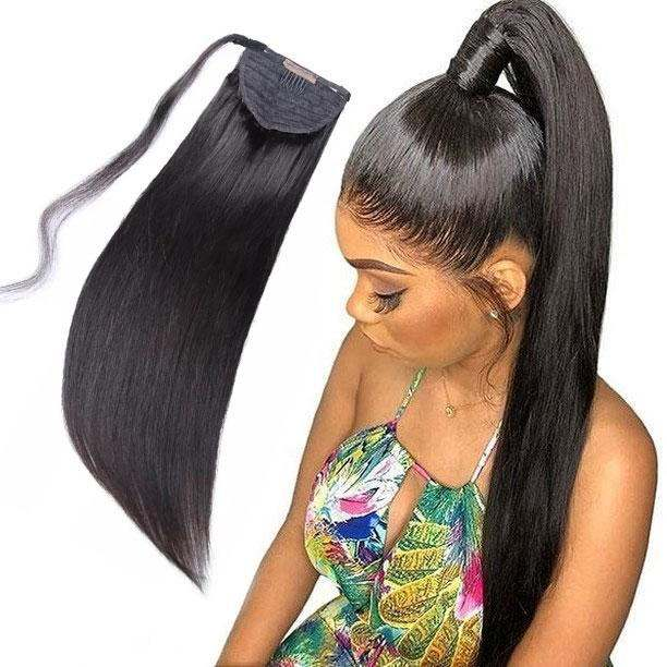 Long Blonde Ponytail Hair Extension,Kinky Straight\Curly Human Hair Ponytails,Drawstring Ponytail Hair Extension For Black Women