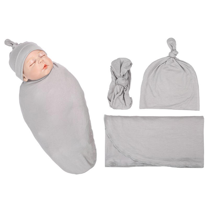 Newborn Baby Wrap Sleeping Bag Baby Swaddle Blanket Set