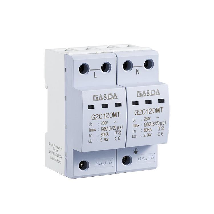 TONGOU 2P 10KA~20KA Surge Protection Device SPD Lightning Arrester Protection