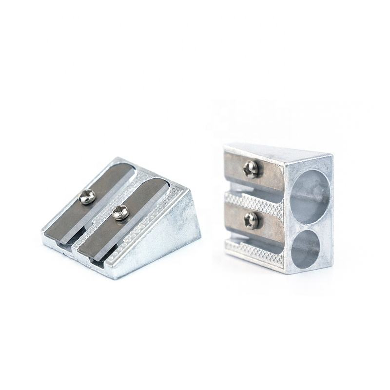 2020 China Metal Aluminum Pencil Sharpener with 2 holes Dual-hole