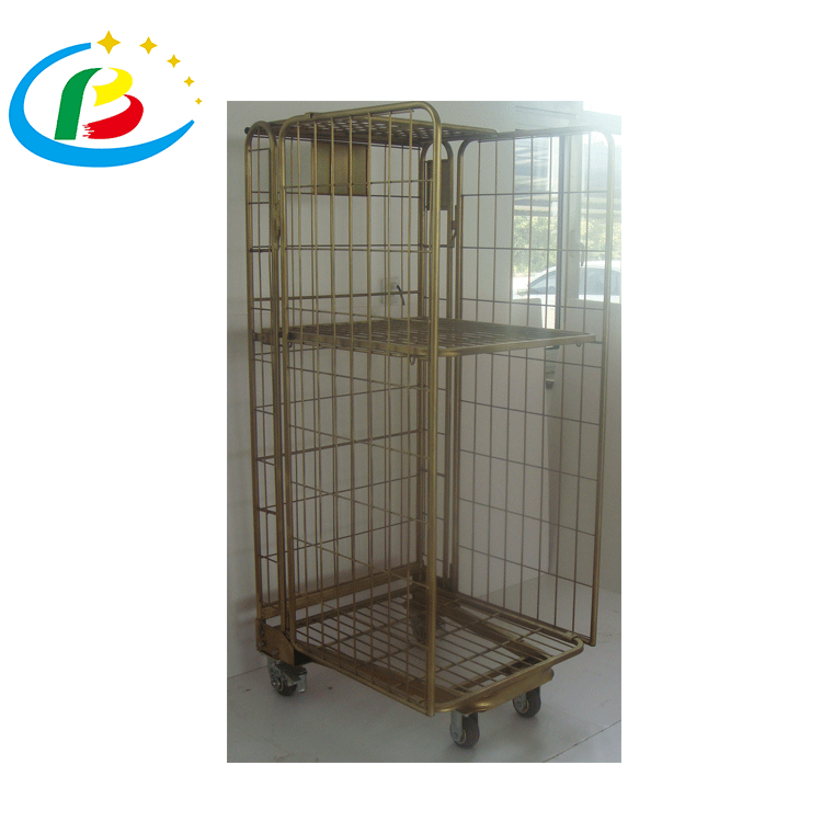laundry used metal galvanized roll cage