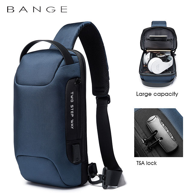Factory hot sell casual urban cross body wholesales waterproof bag sling men anti theft men sling bag men sling bag