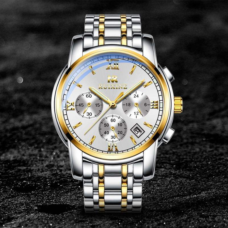 Ruixine men watch reloj hombre 2019 mens watches top brand luxury quartz watch big dial sport waterproof relogio masculino saat
