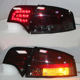 For A4 B7 LED Taillights Assembly Tail Lamp 2005 -2008 Year Rear Lights Back Lamp Smoke Black With Reverse Parking Signal Turnin