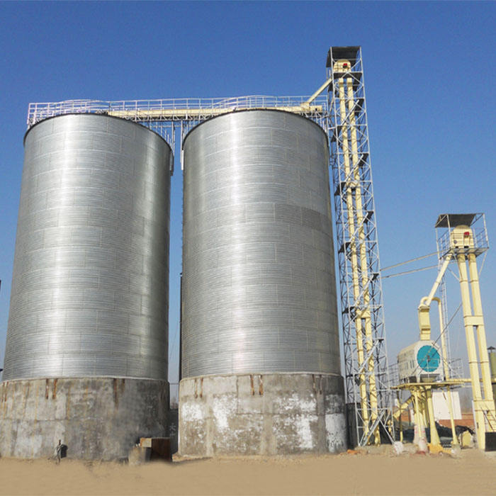 Grain silos 1000/2000/5000 T Galvanized steel Assembled silos