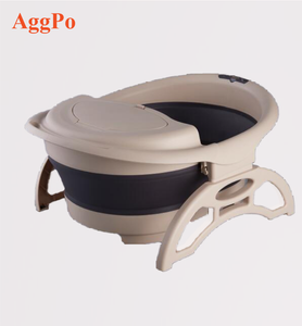 Plastic Foot Bath Basin Large Heightening Footbath Fording Barrel Collapsible Plain Foaming Feet Massage Shower Bucket