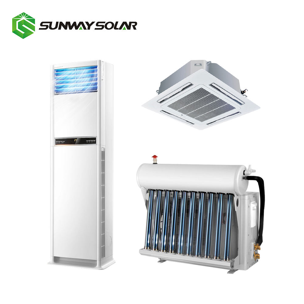 Pada Grid Solar Air Conditioner Solar Powered Mini Split Unit AC 220V 50Hz 60Hz 12000 Btu 1 ton 1.5Hp untuk Perumahan