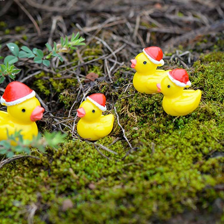 Fairy Garden Decor Figures Dollhouse Craft Miniature figurine duck animal resin action figure