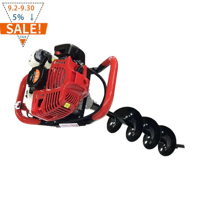 New 52cc gasoline earth auger or single Tree planting digging machine or gasoline post hole digger ( Drill bit size 15cm)