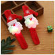 Led Slap Clap Bracelet Santa Snowman Luminous LED Hand Circle Christmas Children Gift Hand Slap Clap Bracelet Toy