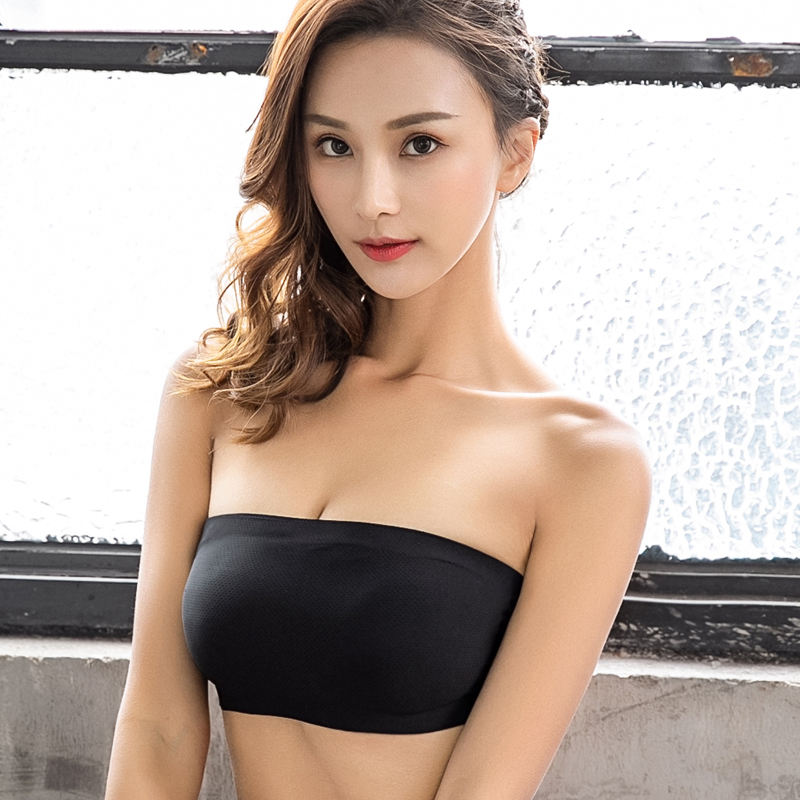 New Design Strapless beautiful design padded bandeau sexy boob top seamless tube bra good quality Tube Top
