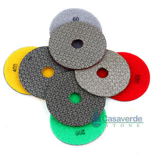 4pcs/set 4 inch 100mm electroplated diamond hand polishing pads Fast Removal Tile Glass Concrete Stone or Metal Polishing
