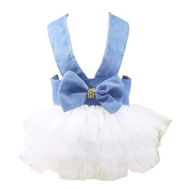 Pet accessories wholesale luxury pet dog clothes green tutu dresses with leash