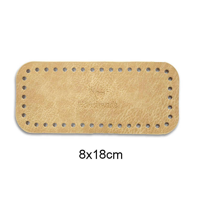Deepeel RM018 8x18cm DIY Knitting Crochet Bag Leather Nail Bottom Base Shaper Replacement Bags Bottom