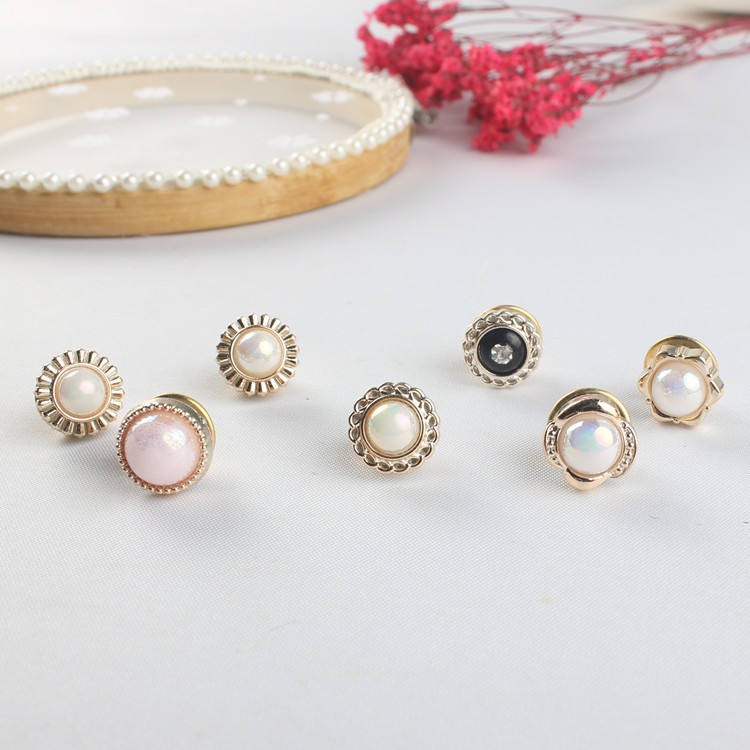 Wholesale mini pearl wedding small collar brooches dress jewelry girls pearl clothing brooches