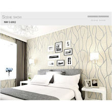 high quality 3d Self-Adhesive WallPaper Nonwoven Striped Wallpaper wall coating sticker