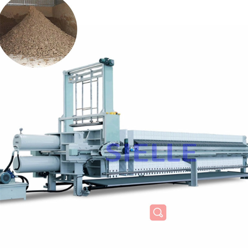 Vertical press filter for sodium silicate and filter press pump