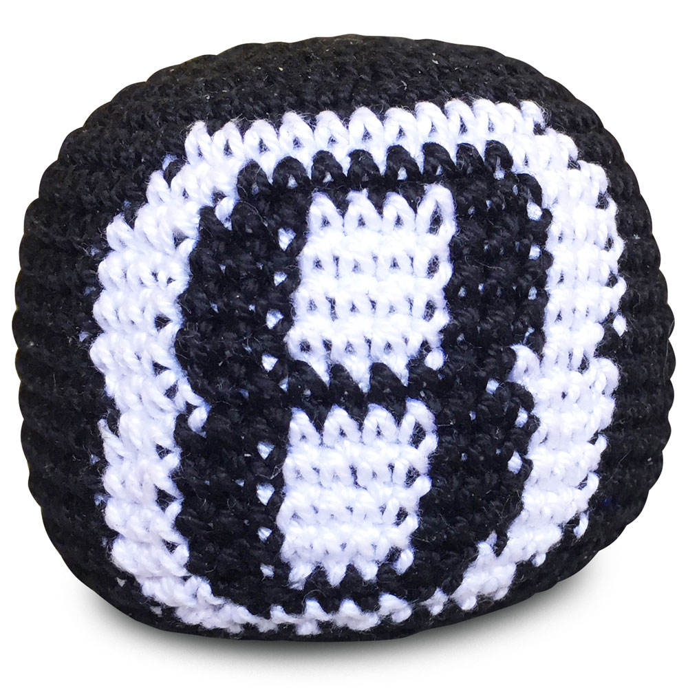 Promotional Woven Knitted Hacky Sack for Outdoor Play Mini footbag with Your Logo Design