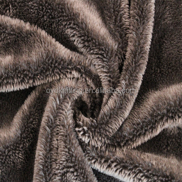 100% Polyester Polar Fleece Fabric, 5mm Plush Faux Fur Fabric 260gsm
