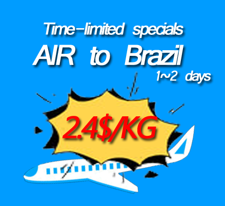 Fast delivery free pick up door to door air freight to Brazil