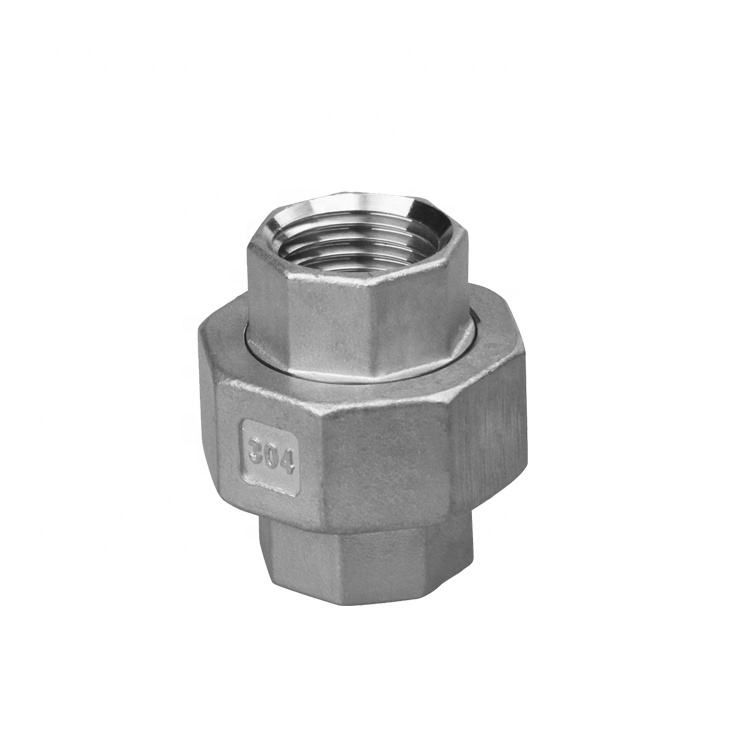 NPT stainless steel union 316 stainless steel pipe fittings class 150 split coupling