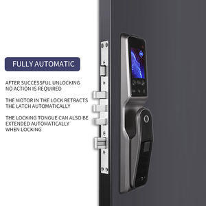 Face recognition lock automatic biometric fingerprint APP Wifi card 3D face detection smart door lock
