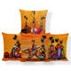 African Woman Child Cushion Cover Printing Africa Bedroom Ethnic Cushion Pillowcase