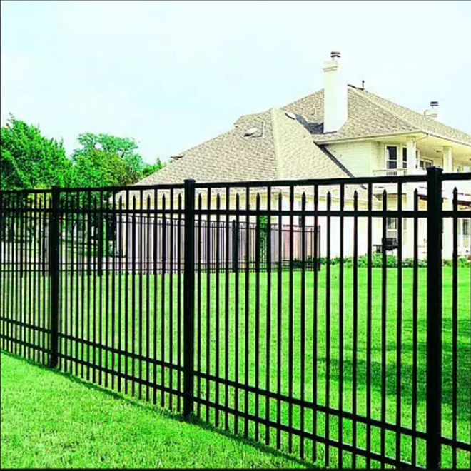 New Design Cheap Wrought Iron Fence Panel/ Aluminum Metal Picket Ornamental Fence and low price
