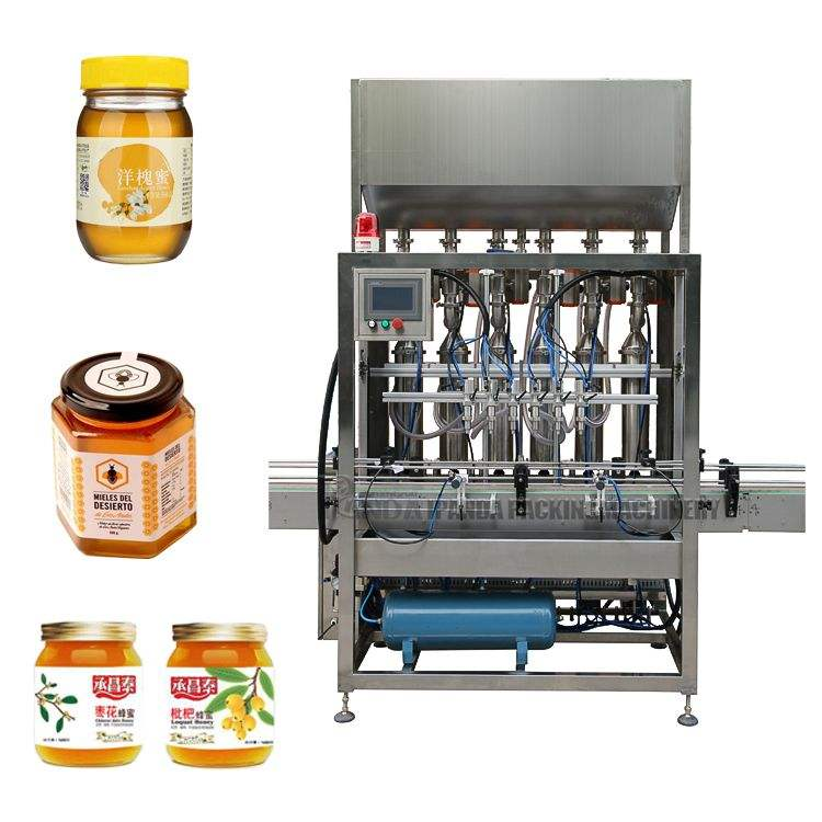 Automatic Jam Hot Sauce Honey/Chili Sauce Filling Machine, Bottle Filling Capping Labeling Machine