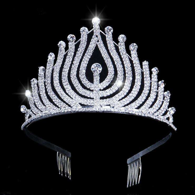 2020 Newest Luxury large pageant Bride Wedding Tiaras Crystal flower Queen Crown Wedding moulding decorative Hair Accessories