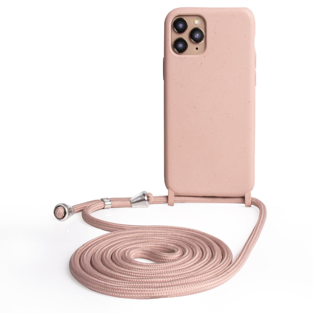 Lower MOQ Multi -Colors Rope Recycled Crossbody Phone Case With Necklace For Iphone 12