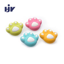 HJY children's environmental protection door knobs cute PVC material bear palm pulls