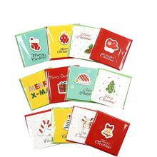 DIY Popular Cute Christmas Design Mini Small Size Greeting Card Set in set