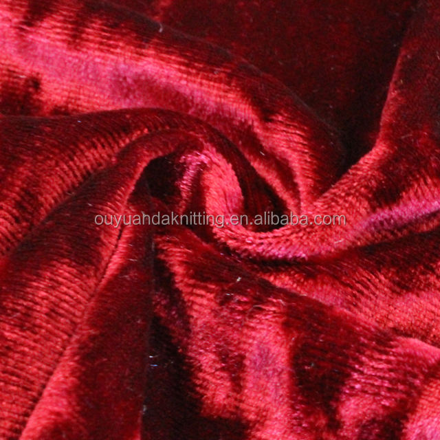 Crushed Velvet Fabric 96% Polyester 4% Spandex Ice Crushed Stretch Velvet Fabric For Dresses/Skirt/Women Cloth