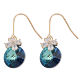 EH00667 ONYSS Elegant Lovely Crystal From Swarovski Flower Round Crystal Earrings For Valentine's Day