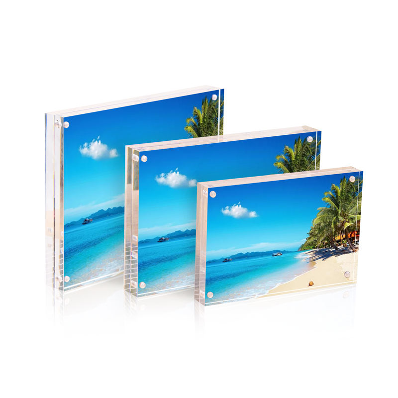 Factory Wholesale 4x6 clear acrylic magnetic photo frame pictures frames online acrylic photo