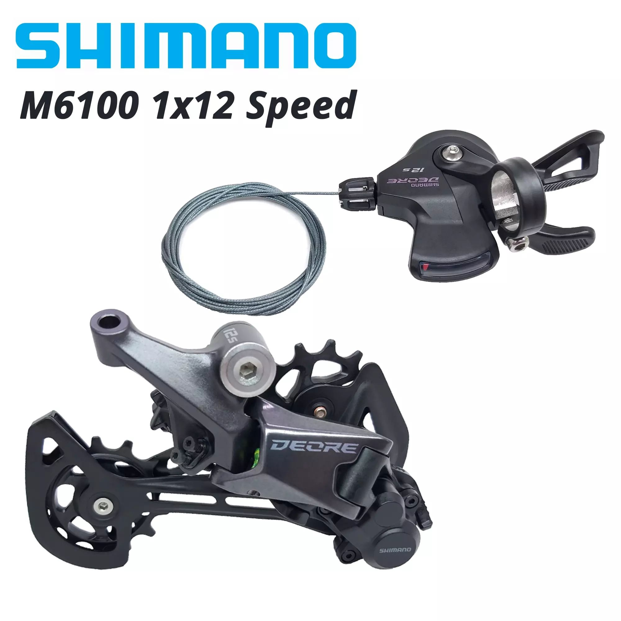 SHIMANO DEORE M6100 12s Groupset SL M6100 SHIFT LEVER + RD M6100 GS REAR DERAILLEUR 12 Speed 12S SHIFTER SGS basic M7100 M7120