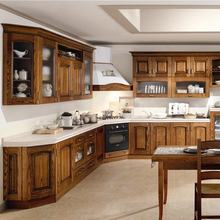 Classic style wooden kitchen room/living room/ living cabinets  bedroom sets cherry wood kitchen cabinets