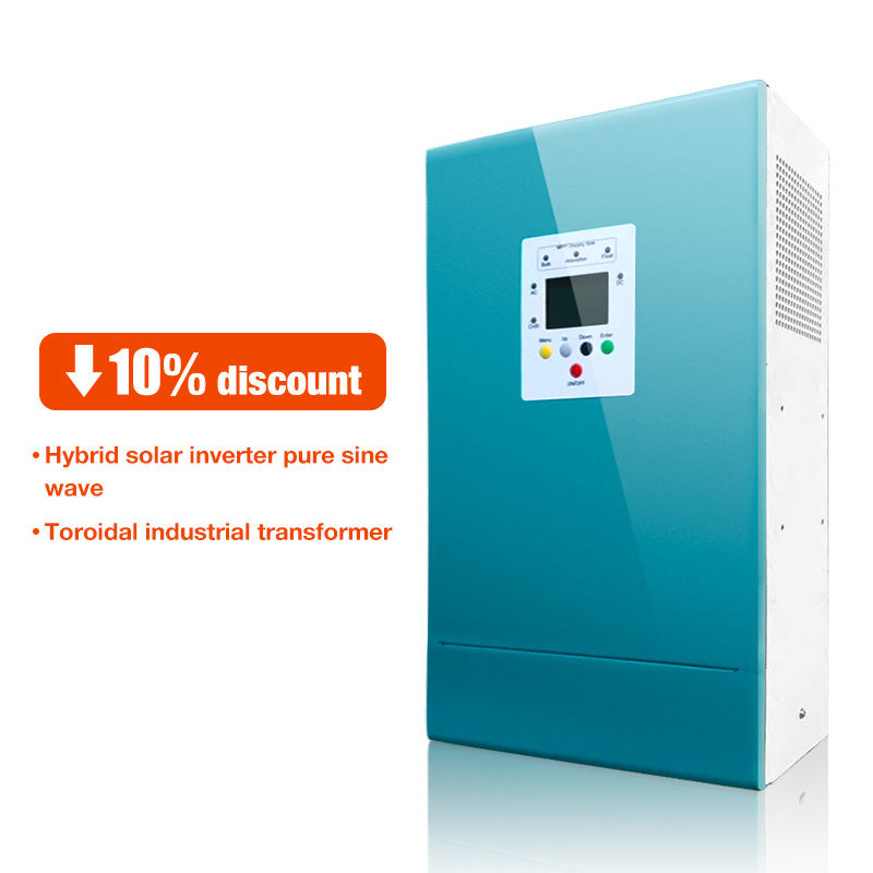 Solar inverter 1kw 2kw 3kw 4kw 5kw 6kw 10kw pure sine wave off grid home system solar inverter