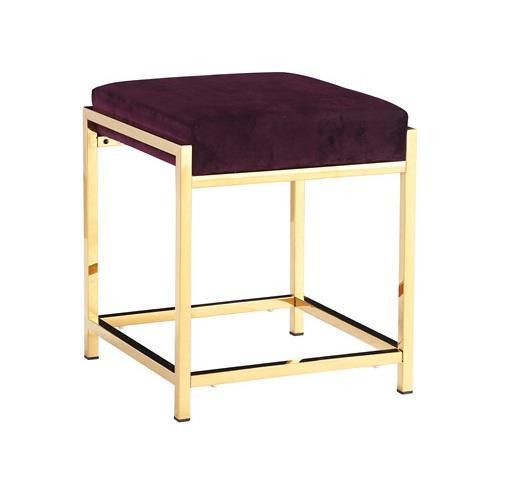 63 DGSD Tavolino ottomano Sgabello con Fibbia in Velluto Sgabello Imbottito per Il Soggiorno,Grey-63 38cm