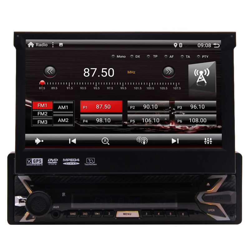Android 10.0 Q Quad-core Car Stereo 7'' 1024*600 Touch Screen Single Din Car DVD Player GPS Navigation In Dash Bluetooth WiFi